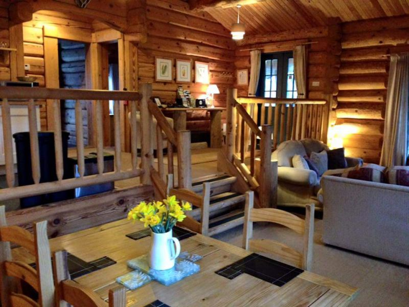 Newland valley log cabins cottage in the lake district - Luxury cottages lake district swimming pool ...