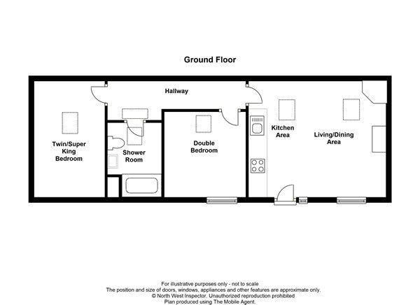 South byre single level cottage in cumbria sleeps 4 for Single story barn house plans