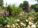 Cottage garden full of colour in the spring and summer