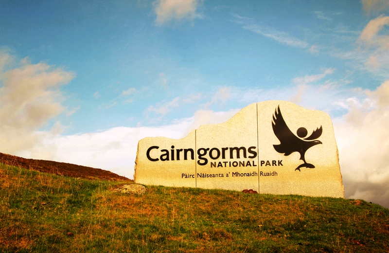 Cairngorms National Park sign