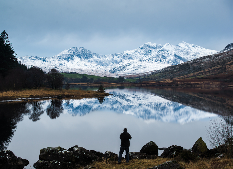 Reflection of Mount Snowdon in the lake