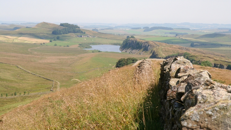 Hadrian's Wall in Northumberland - one of the UK's most iconic landmarks.
