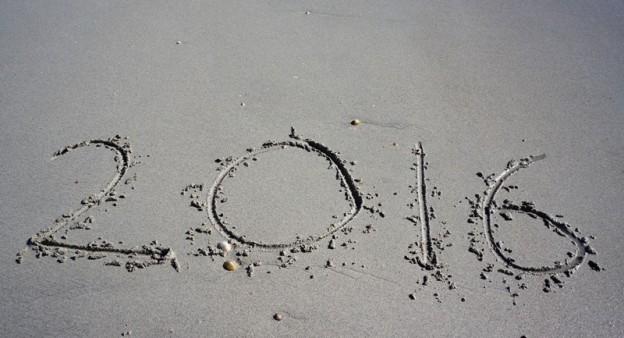 2016 written in sand