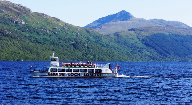 cruise boat on Loch Lomond