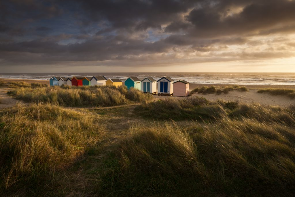 I couldn't resist grabbing a quick shot of the beach huts during a workshop at Southwold on Sunday... the light was too good to miss.